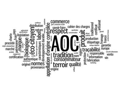 Nuage de Tags APPELLATION D'ORIGINE CONTROLEE (label aoc france)