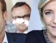 E. Macron et M. Le Pen